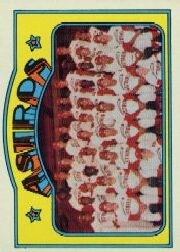 1972 Topps Baseball Cards      282     Houston Astros TC